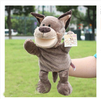 Early Education Baby Toy Comforter Toy Family Fun Tell Story Children Plush Mouth Moving NICI Timber Wolf Puppet Toy