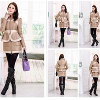 Free Shipping DHL2014 French brand Women winter coats Long Sleeve  Fleece Hooded Parka Lady Winter Coat Jacket