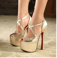 fashion women peep toe  high heel lady pump  night club dancing party sandals  shoes 141019-5