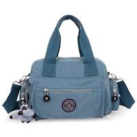 2014 cool summer women's solid travel waterproof handbags shoulder messenger nylon bags for women ladies female bolsa fashion