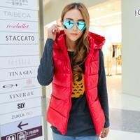 2014 Qiu Dong Korean down cotton candy color coat vest short paragraphs are women's cotton vest