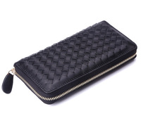 genuine leather purse fashion soft knit sheepskin long design women clutch phone cases wallets women