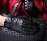 Quality Lampskin Fashion Men's Gloves Genuine Leather Winter Warm Gifts Hand Wrist Gloves