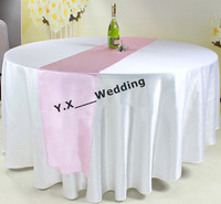 "10 pcs 108"" Round Table Cloth \ White Satin Table Cloth"