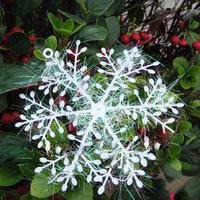 10cm White Snowflake Ornaments Christmas Tree Decorations Home Festival Decor