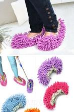 New 2014 New 1Pcs Dust Mop Slipper Lazy Quick House Floor Polishing Cleaning Socks(China (Mainland))