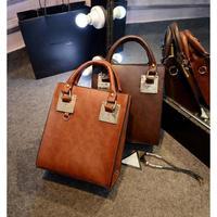 2014 new big European and American minimalist black shoulder bag diagonal package  fashion women messenger bags FC-909 #