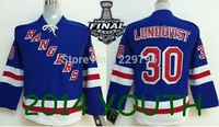 Hot sale Youth New York Rangers Hockey Jerseys #30 Henrik Lundqvist Jersey NY Home Kids Royal Blue Cheap Stitched Jerseys China