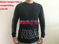 2014 hip hop fashion HBA hood by air hba long sleeve men cotton t shirt