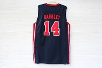 14# Charles Barkley Basketball Jersey and Short New Material Rev 30 Embroidery 1992 Dream Team Jersey size S-XXL Free Shipping