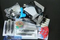 New Complete Tattoo Kit Sets  2 Machines Guns Grips Needles Tips Power Set Equipment Supplies
