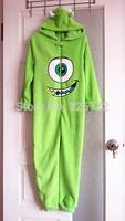 free shipping 2014 pixar monsters university 7063449 boy's coral velvet sleepwear ,children's blanket sleeper