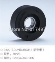Escalator Roller 70*25 bearing 6204-2RS edunburhg Black color , edunburhg
