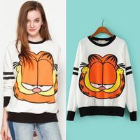 2014 winter Autumn new sweatshirts women carton long sleeve o neck sweater pullover women Hoodies sweatshirt female Clothing