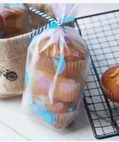 100pcs 20*12cm big baking packaging Korean style blue and purple  bubble pattern bag cookie bag