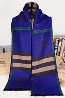 2014 Famous Brand Bry Scarf for women & men Classic fashion Plaid Design Cashmere Pashmina Silk Cotton Scarves & Shawls 180*60cm