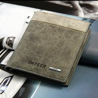 2 colors 2 styles New 2014 Retro wallets men purses PU & genuine leather purses BLR11045