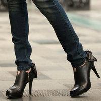 2014 women high heel shoes Bow platform fashion dress sexy heels pumps for women hot sale EUR size 35-39
