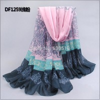 2014 New style Spring & Autumn   Winter  Special Print Offer Silk  Thin Long Design Cotton Scarf   Beach Towel(sc016)