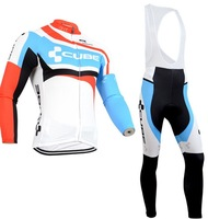 Free Shipping!2014 new CUBE cycling jersey fitness bicicleta Ropa ciclismo bicycle bike maillot long clothing bicycle bibs pants