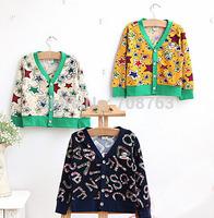 5pcs/lot,Free Shipping Stars Cardigan Long Sleeve Outwear Coats Sweatshirt For 2-7 Year Baby Boy Girl ,J290