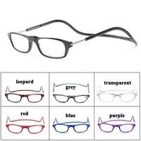 Lovey wholesale 10pcs/lot Magnets Reading Glasses Folding Reading Eyewear Neck Hanging Eye Glasses Free Shipping