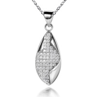LB-0119,Fine jewelry sterling silver-plated jewelry semi joias bijoux Colar Pingente coupon with zircon or crystal free shipping