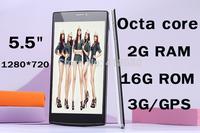 "original cell phone Octa Core mtk6592 JIAKE V6 P6 phone 5.5""HD Ram 2GB Rom 16GB Android 4.4 3G WCDMA GPS 8MP camera smartphone"