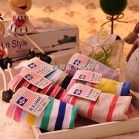 Colorful stripes printed girls cotton underwear panties Free shipping mix 12pcs/lot cute comfort women intimates panties