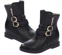 Martin boots women boots 2014The new autumn boots Plush boots The wind belt buckle in the women's shoes