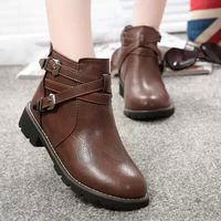 2014  fashion boots female spring and autumn thick heel single boots martin boots