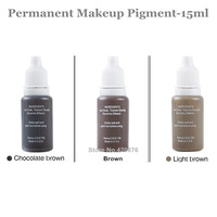 Beautiful  15ml Permanent Makeup ink 3 Colors Tattoo Ink Pigment Supply Set For Tattoo Eyebrow Lip Pen Machine Kit