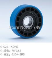 Elevator , Escalator Roller 75*23.5 bearing 6204-2rs Blue color