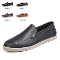Full grain leather men flat shoes Minimalist design Upscale men Oxford shoes supper soft Loafers Breathable, absorbent men shoes