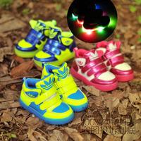 Free shipping! new  Colorful led light shoes child boys girls shoes lights luminous shoelace  sport shoes flash