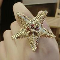 Hot Sale !!! fashion vintage starfish ring