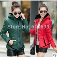 The new women's winter coat Korean Women Slim Down a short section of fashion hooded padded jacket coat female