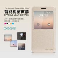 G850H Smart case,Original NILLKIN Sparkle ultra-thin flip Leather case For Samsung Galaxy Alpha G850F/G8508S Sleep/wake up