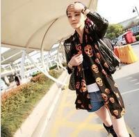 Wholesale Free Post - B022 classic European style, but when Korean female models Kito skull scarf long scarf