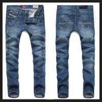 AD DISEL Brand Men Jeans Pants Slim Fit Cotton Long Denim, Casual Classic Male Pants Mid-Rise Straight Trousers Jeans