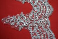 Extra wide lace wedding dress Gauze car bone lace Sequined lace Large cargo lace