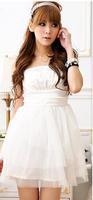 2014 new hot fashion cozy women clothing cute casual active sexy dress Slim Wild Sweet Chiffon Lace Korean style