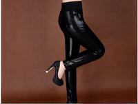 Genuine Leather pants Leather pants feet Slim package hip sheepskin sheepskin pants pencil pants