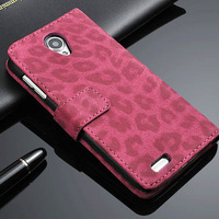 Lenovo S650 S 650 Case Flip Leather Bag Leopard Case Cover With Wallet Card Holder Design Mobile Phone Shell Accessories Retail