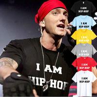 summer men t shirt Eminem i am hip-pop print t-shirt hip hop clothing 100% cotton new tshirt Eminem 6 color