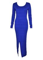 Swedish Brand Gina Autumn Winter Knit Stretch Hollow Back Anckle Sweater Dress