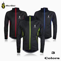 WOLFBIKE Fleece-Lining Thermal Cycling Jerseys for Men in Winter Windproof MTB Bike Bicycle Jacket Clothing Coat Waterproof