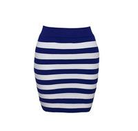 Autumn Winter Stripe Knit Stretch Mini Skirt