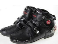New hot Men Sport bike Motorcycle Motor high fiber Leather Boots boot waterproof