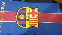 Fasion football fan cotton towels ,Barcelona football club team logo cotton microfiber towel